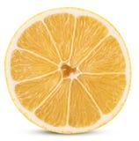 成熟柠檬切成了两半 免版税库存图片