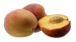 成熟桃子果子切片 库存图片