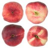 成熟桃子结果实顶视图 免版税库存照片