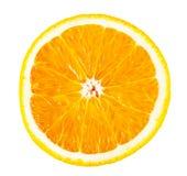 成熟橙色切片 库存图片