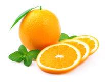 成熟橙色和薄荷。 免版税库存图片