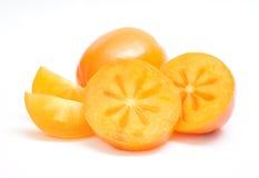 成熟橙色的柿子 免版税库存照片