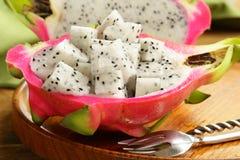 成熟甜热带龙果子 库存图片