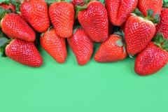 成熟甜草莓 库存图片