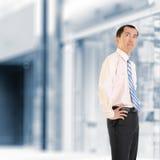 成熟的企业家 免版税图库摄影