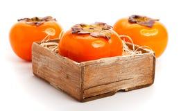 成熟的柿子 免版税库存照片