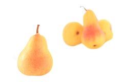成熟的梨弄湿了 免版税库存图片