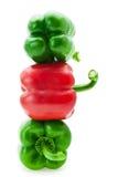 成熟红色和青椒 免版税库存照片