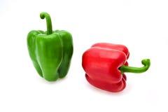 成熟红色和青椒 免版税库存图片