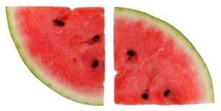 成熟红色西瓜平的片断  免版税库存图片