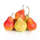 成熟红黄色梨果子 免版税库存图片