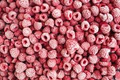 成熟结冰的莓顶视图 免版税库存照片