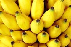 成熟背景的香蕉 库存照片