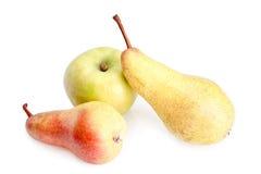成熟苹果的梨 库存照片
