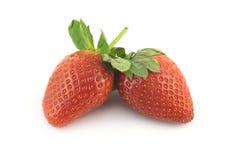 成熟草莓隔绝了特写镜头 库存照片
