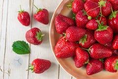 成熟草莓 吃健康 图库摄影