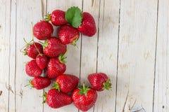 成熟草莓 吃健康 免版税库存照片