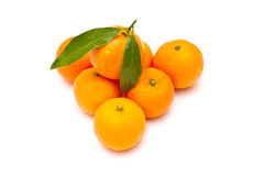成熟蜜桔 免版税库存图片