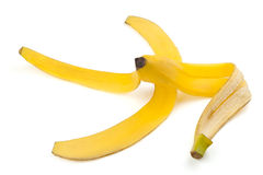 成熟香蕉的果皮 免版税库存图片