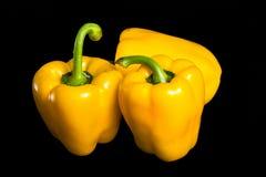 成熟黄色胡椒 库存图片