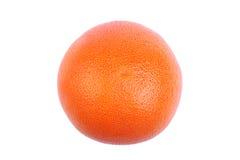 成熟,有孔,水多的桔子的特写镜头图片,隔绝在白色背景 滋补维生素早餐 免版税库存照片