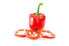 成熟,美丽的红辣椒 库存照片