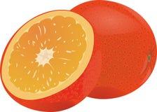成熟水多的桔子 半桔子 免版税图库摄影