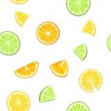 成熟水多的热带水果背景 也corel凹道例证向量 新鲜的柑橘石灰橙色柠檬果子剥了皮,一半片断  库存照片
