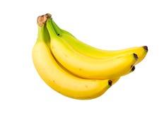 成熟黄色香蕉。 库存照片