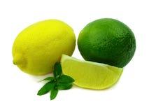 成熟laim的柠檬 库存照片