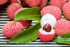 成熟lychee果子 库存图片