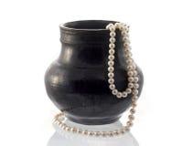 成珠状花瓶 库存照片