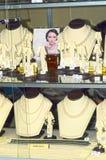 成珠状jewelery和手表品牌JUNWEX莫斯科豪华亮光的首饰著名首饰房子x国际性组织陈列 免版税库存照片