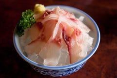 成田冷的鲤鱼生鱼片 库存图片