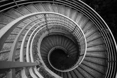 成螺旋形上升的台阶 图库摄影