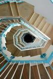 成螺旋形上升的台阶 库存照片