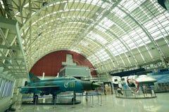 成都中国模型飞机在展览室里 免版税图库摄影