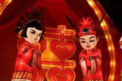 xieng福_新娘和新郎在wat xieng皮带,琅勃拉邦,老挝.