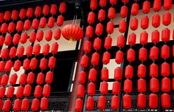 成都,中国:红色中国灯笼 库存图片