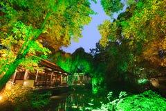 成都Du Fu Thatched村庄博物馆 库存照片
