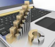 成长图在计算机键盘的  免版税库存照片