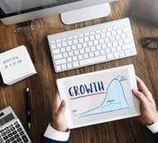 成长图表图经营计划战略概念 库存图片