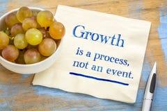 成长是过程,不是事件 免版税库存照片