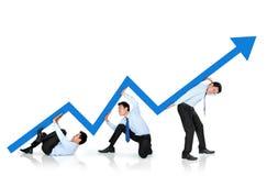 成长曲线图概念 免版税库存照片