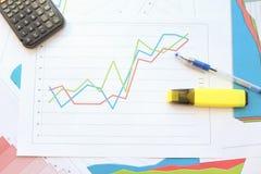 成长曲线图 免版税库存照片