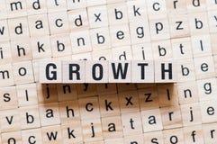 成长词概念 库存图片