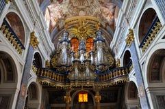 我们ÅšwiÄ™ta利普卡,教会的亲爱的夫人 波兰 免版税库存图片