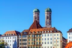 我们亲爱的夫人, Frauenkirche大教堂在慕尼黑市, Ger 免版税库存照片