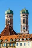 我们亲爱的夫人, Frauenkirche大教堂在慕尼黑市, Ger 免版税库存图片