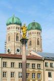 我们亲爱的夫人, Frauenkirche大教堂在慕尼黑市, Ger 库存照片
